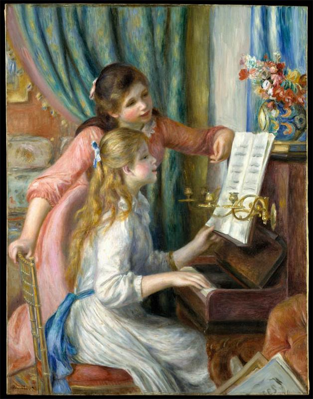 Pierre-Auguste Renoir ~ Jeunes filles au piano(彈鋼琴的少女)