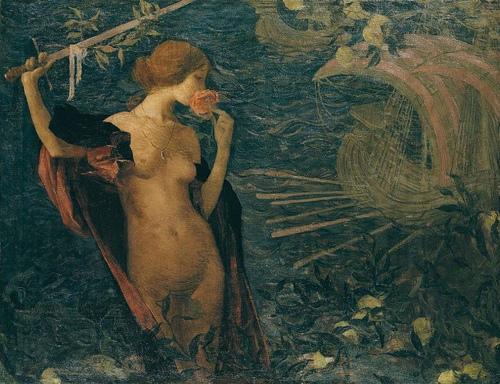Edmond Aman-Jean ~ Venezia Bella regina del mare(美麗的威尼斯,海洋之后)
