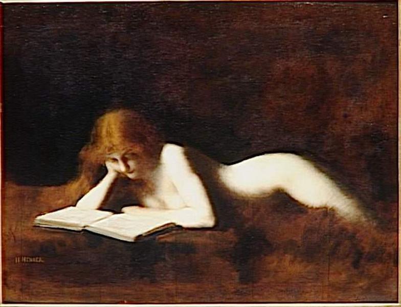 Jean-Jacques Henner ~ La Liseuse(閱讀的女子)