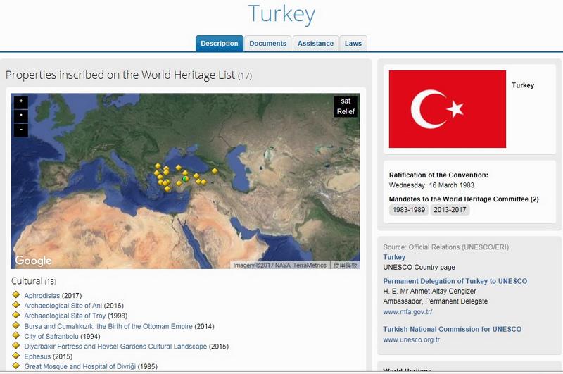 地圖_土耳其世界遺產