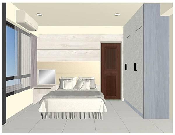主臥衣櫃+床背板