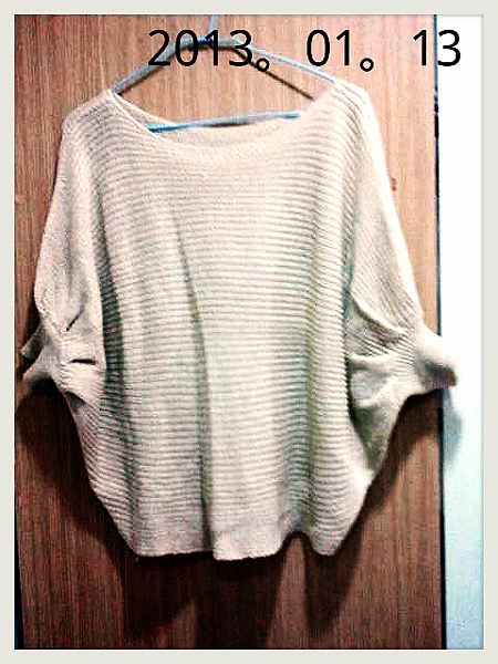 短版飛鼠袖毛衣