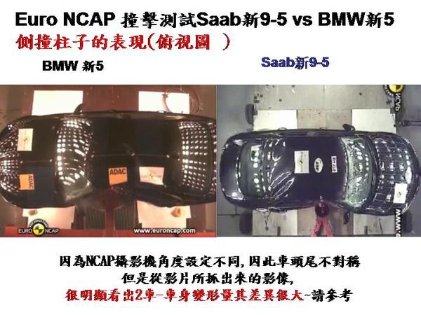BMW 5 vs saab 95 NCAP側撞表現比較.jpg