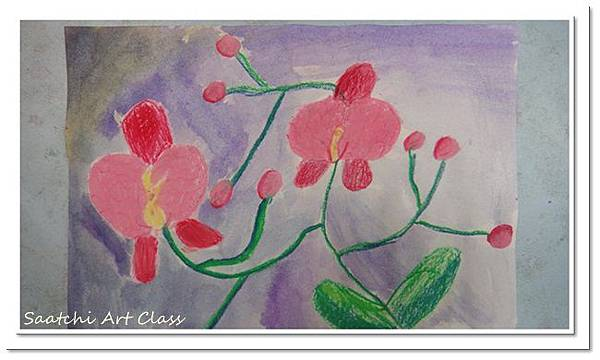蝴蝶蘭水彩畫 (9)
