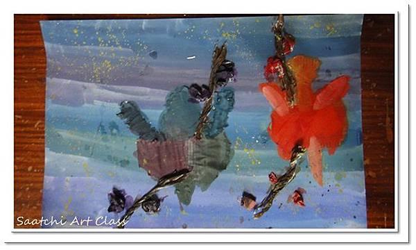 蝴蝶蘭撕貼作品 (3)