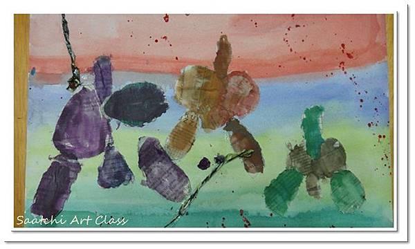 蝴蝶蘭撕貼作品 (4)
