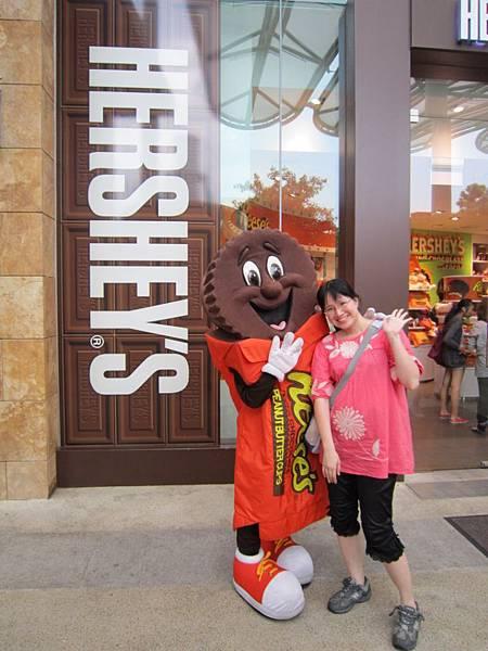 巧克力店也有吉祥物
