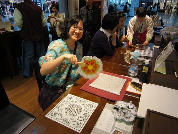 韓國文化體驗   拓印1