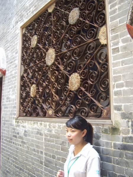 中西合璧的鍛鐵窗