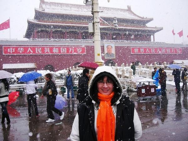 我愛北京天安門,天安門上太陽升~~