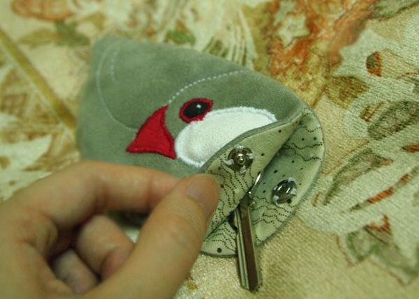 銀文鑰匙袋