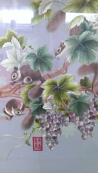 精美可愛的蘇繡屏風