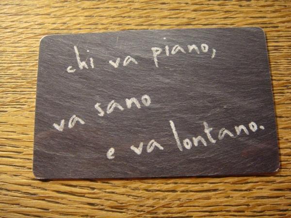 vapiano點餐卡(正面)