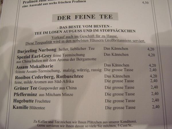 Heinemann菜單-茶