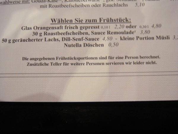 Heinemann早餐部分菜單備註