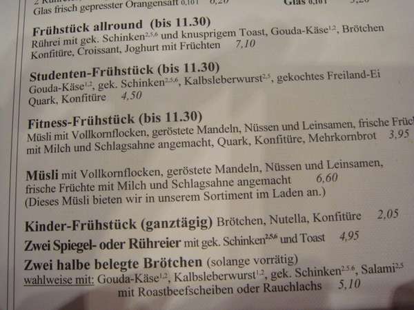 Heinemann早餐部分菜單-3