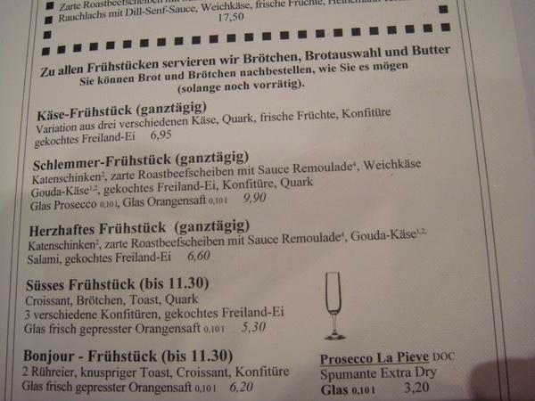 Heinemann早餐部分菜單-2