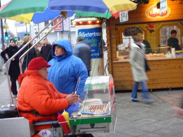柏林特別的行動德國香腸攤