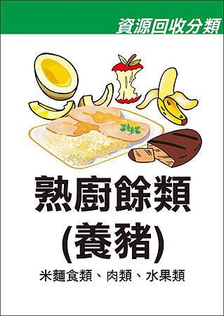 海報-熟廚餘類(養豬)