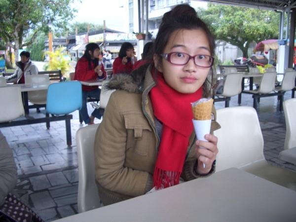 光復糖廠的脆餅芋香冰Super好吃了啦啦啦!!!!!!!!!