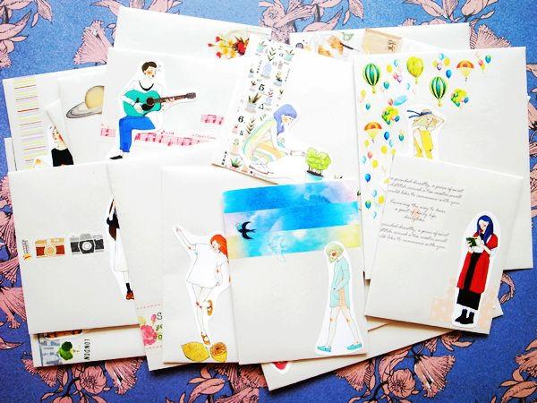 20140607 muji再生紙手作信封甜蜜生活系列女孩 01.jpg