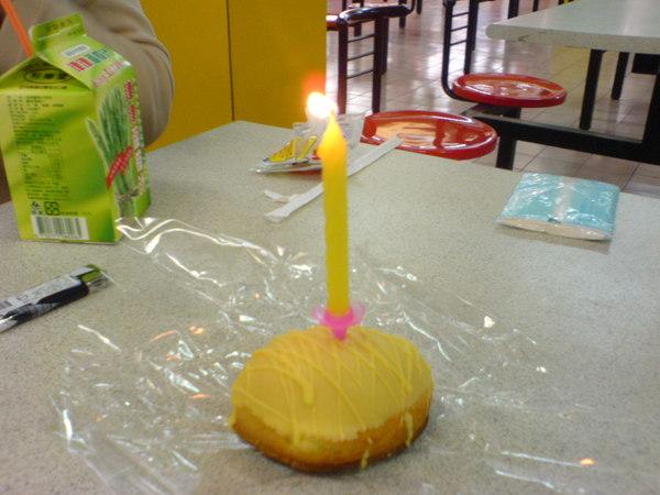 後來這個蛋糕被阿成吃掉