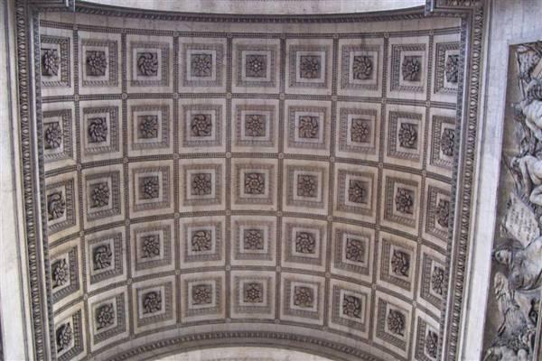 凱旋門內部天花板