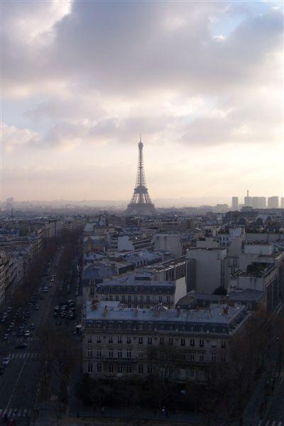 從凱旋門看巴黎鐵塔