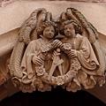 海德古堡入門口-雙胞胎雕像