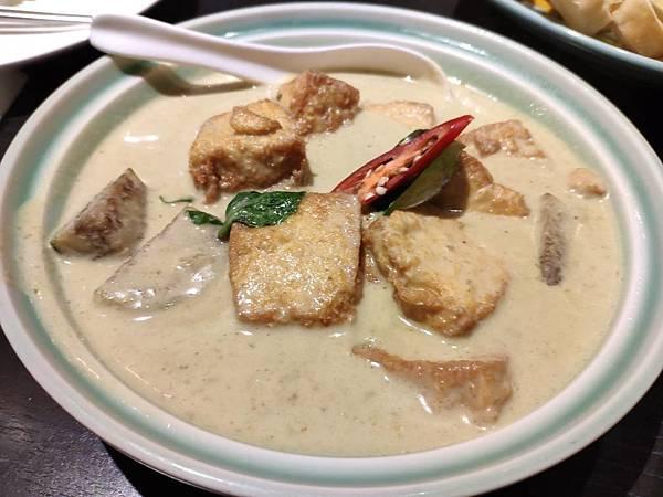 綠咖哩嫩豆腐200
