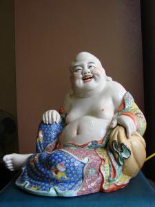 弥勒菩萨像, 景德镇曾龙升制、现存于康提寺院