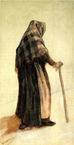 20160405穿披肩拿拐杖的女人