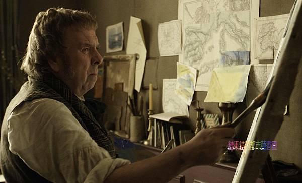 《畫世紀:透納先生》劇照01:男主角提摩西史伯為詮釋透納,習畫兩年