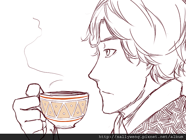 2012-0916 Sherlock with coffee.png