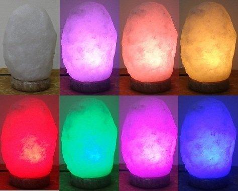 LED頂級白鹽彩變鹽燈