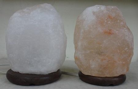 光明鹽燈VS一般淺層玫瑰鹽燈(關)