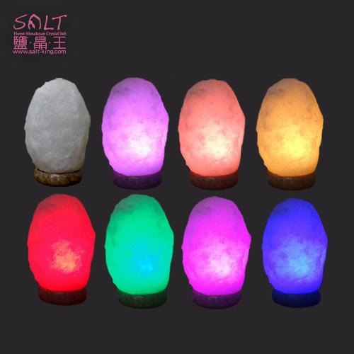 鹽燈(鹽晶燈)頂級特殊白鹽彩變鹽燈