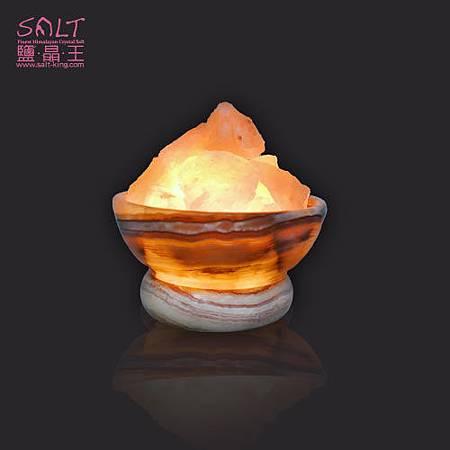 鹽燈(鹽晶燈)玉石聚寶盆