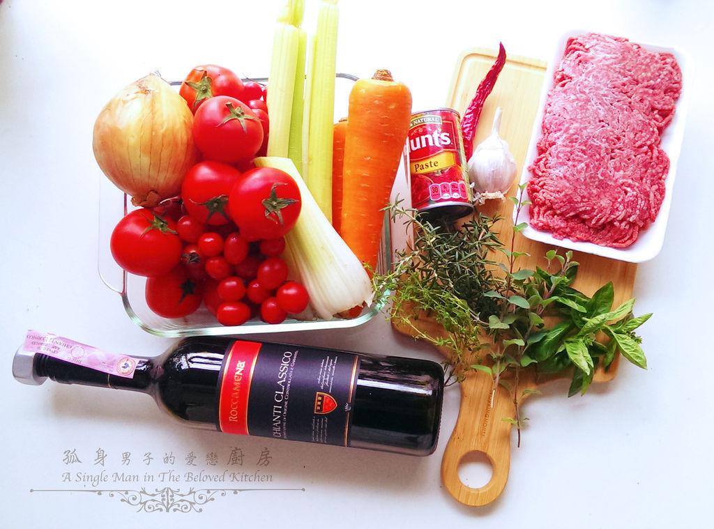 孤身廚房-波隆納紅酒肉醬義大利扁麵1.jpg