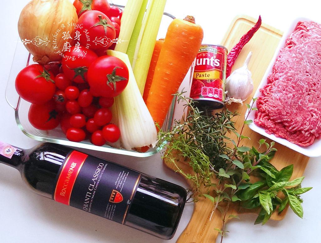 孤身廚房-波隆納紅酒肉醬義大利扁麵2.jpg