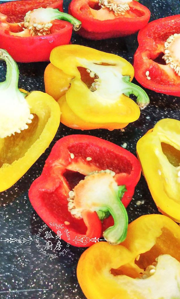 孤身廚房-烤甜椒鑲綜合蔬菜起司盅5.jpg
