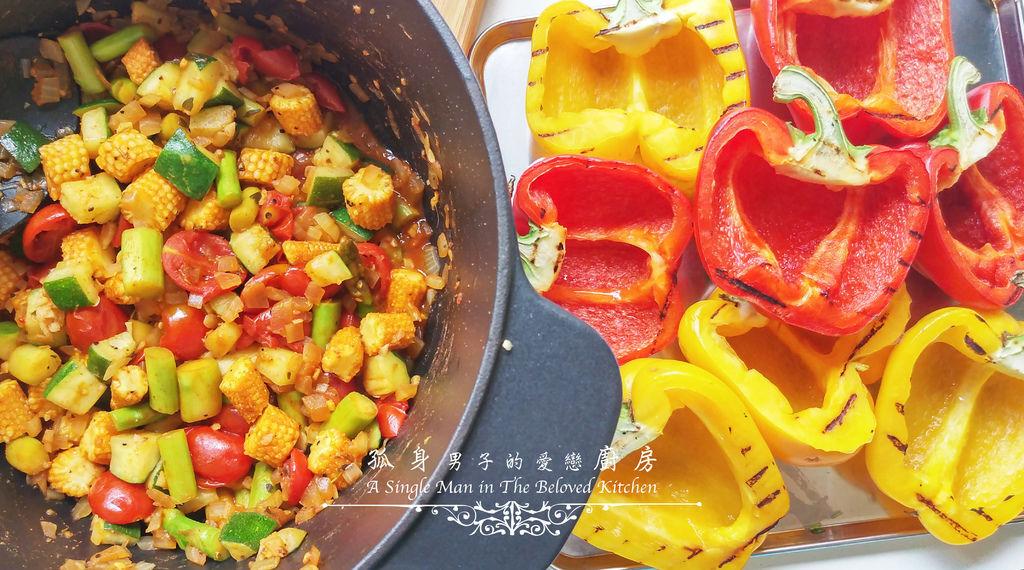 孤身廚房-烤甜椒鑲綜合蔬菜起司盅16.jpg