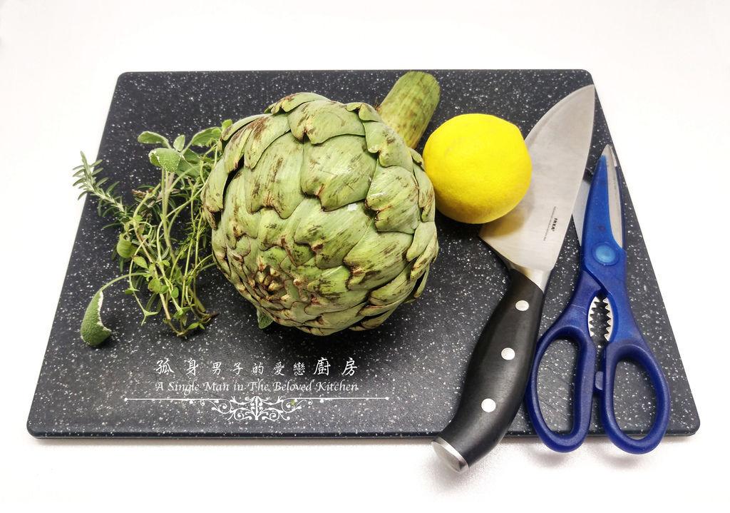 孤身廚房-義式綜合香料橄欖油蒸烤朝鮮薊1.jpg