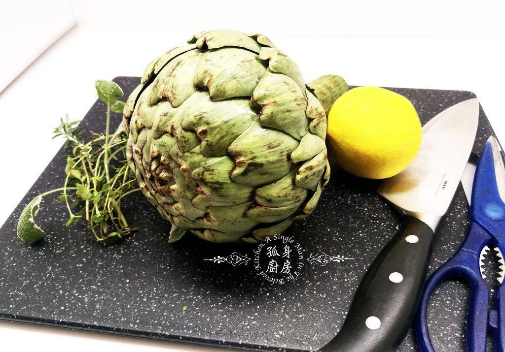 孤身廚房-義式綜合香料橄欖油蒸烤朝鮮薊2.jpg