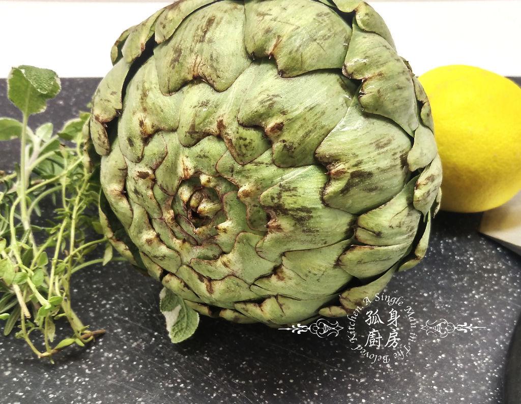 孤身廚房-義式綜合香料橄欖油蒸烤朝鮮薊3.jpg
