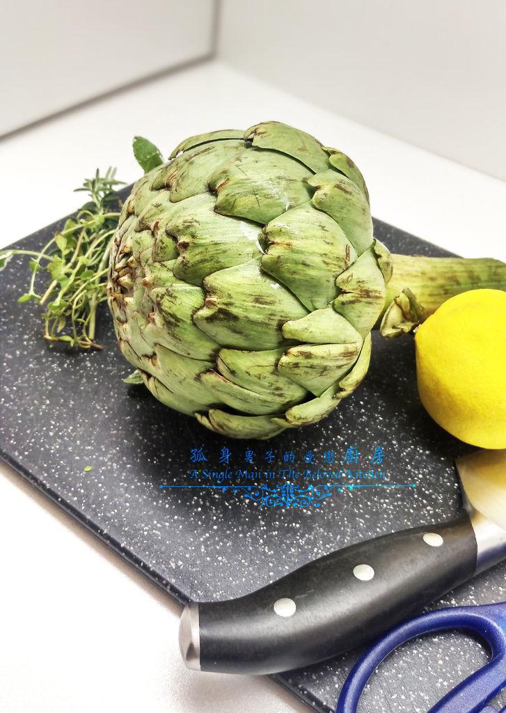 孤身廚房-義式綜合香料橄欖油蒸烤朝鮮薊4.jpg