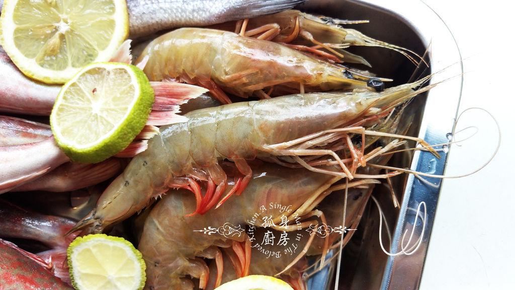 孤身廚房-雞角魚、黑喉、野生紅爐蝦4