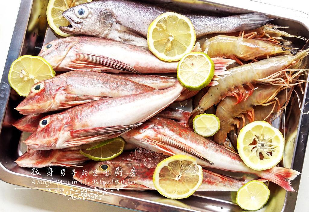 孤身廚房-雞角魚、黑喉、野生紅爐蝦5