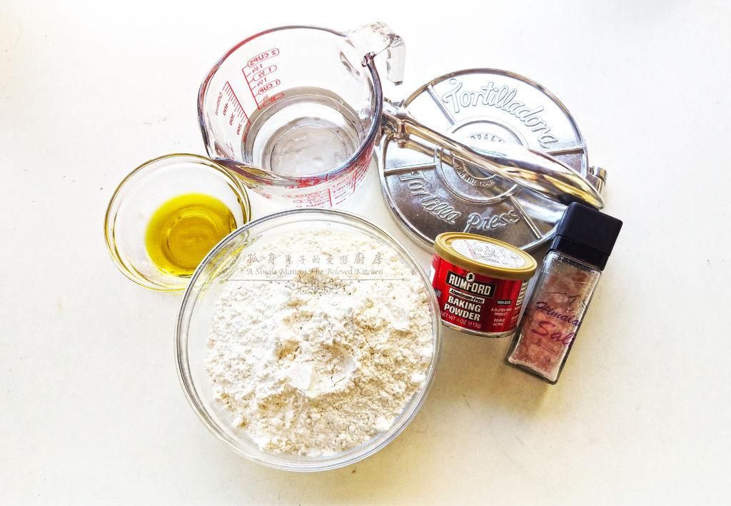 孤身廚房-墨西哥烤紅爐蝦酪梨芒果莎莎醬塔可(上)-自製麵粉版墨西哥薄餅皮Flour Tortilla2