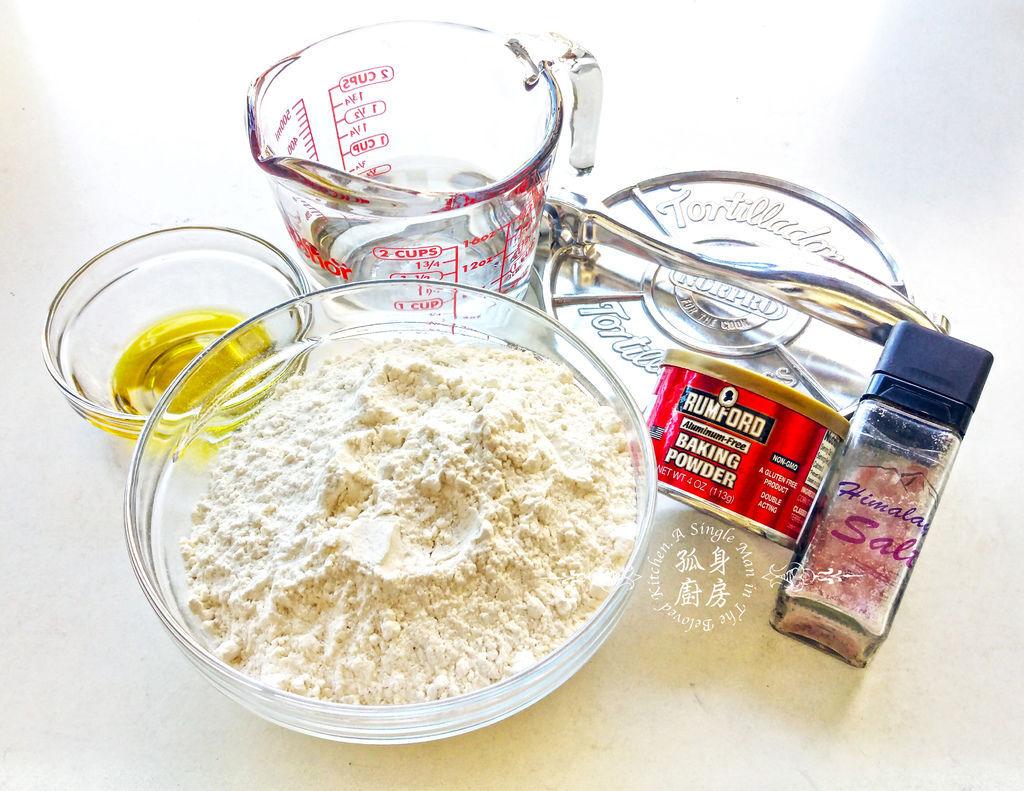 孤身廚房-墨西哥烤紅爐蝦酪梨芒果莎莎醬塔可(上)-自製麵粉版墨西哥薄餅皮Flour Tortilla3
